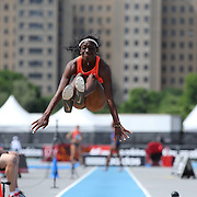 Christabel Nettey, Canada, winning the Women's long Jump competiton with a jump of 6.92m during the Diamond League Adidas Grand Prix at Icahn Stadium, Randall's Island, Manhattan, New York, USA. 13th June 2015. Photo Tim Clayton