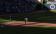 Miguel Cabrera #24 of the Detroit Tigers gets in a defensive stance during a game against the Minnesota Twins on Opening Day 2013 on April 1, 2013 at Target Field in Minneapolis, Minnesota.  The Tigers defeated the Twins 4 to 2.  Photo: Ben Krause