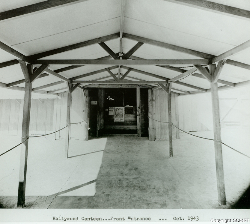 1943 Entrance to the Hollywood Canteen on Cahuenga Ave.