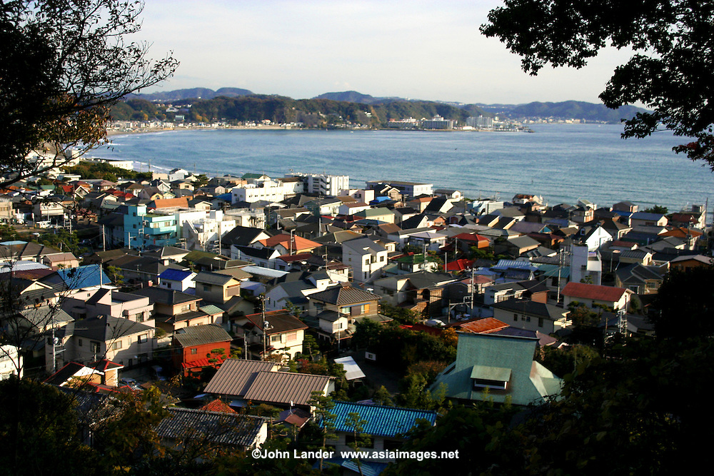 """Kamakura Cityscape - it's hard to believe that this quiet little town with its many temples was at one time the capital of Japan. From 1185 to 1333 the """"Kamakura Period"""" when the Shogunate ruled the country. These days Kamakura is a very popular day trip from Tokyo with beaches, gardens, temples and nature trails."""
