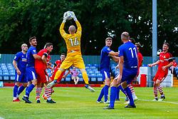 Tom Nicholson of Alfreton Town makes a comfortable save - Mandatory by-line: Ryan Crockett/JMP - 07/07/2018 - FOOTBALL - North Street, Alfreton - Alfreton, England - Alfreton Town v Doncaster Rovers - Pre-season friendly