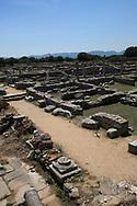 A Roman road running through  Philippi near  Kavalla, Greece. <br /><br />Photo by Dennis Brack