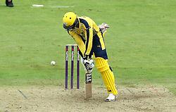 Darren Sammy of Hampshire navigates a yorker - Mandatory by-line: Robbie Stephenson/JMP - 19/06/2016 - CRICKET - Cooper Associates County Ground - Taugnton, United Kingdom - Somerset v Hampshire - NatWest T20 Blast