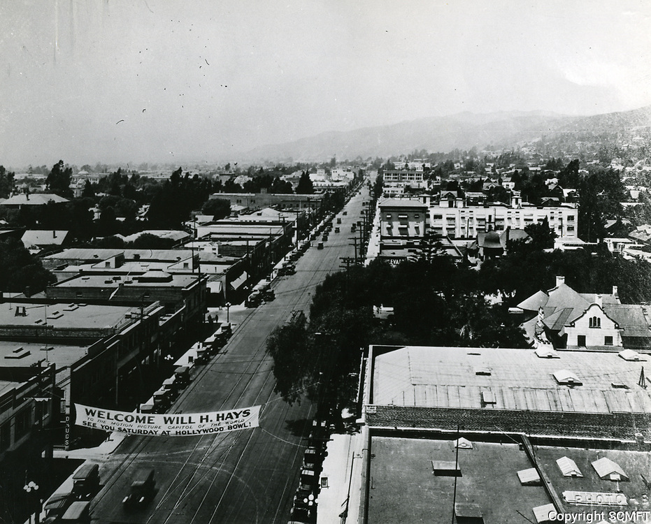 1922 Looking west on Hollywood Blvd. from Cahuenga Ave.