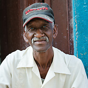 Portrait of elderly Cuban man in Old Havana