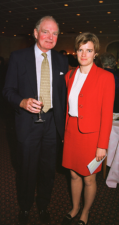 SIR DALLAS BERNARD and his daughter MISS ALICIA BERNARD, at a fashion show in London on 12th April 1999.MPY 55