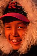 Inuit boy Jamiesie Mucktar, Pond Inlet, Canada
