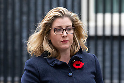 © Licensed to London News Pictures. 06/11/2018. London, UK. International Development Secretary Penny Mordaunt leaving 10 Downing Street after attending a Cabinet meeting this morning. Photo credit : Tom Nicholson/LNP