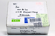 personal small carton parcel package that is shipped from Japan to France