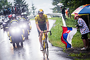 LE GRAND BORNAND, FRANCE - JULY 03 :  VAN DER POEL Mathieu (NED) of ALPECIN-FENIX during stage 8 of the 108th edition of the 2021 Tour de France cycling race, a stage of 150,8 kms between Oyonnax and Le Grand Bornand on July 3, 2021 in Le Grand Bornand, France, 3/07/2021