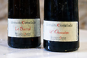 Cuvee le Barral and l'Oursoulette. Domaine Comelade, Estagel. Roussillon. France. Europe. Bottle.
