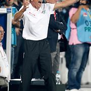 Bursaspor's coach Christoph Daum during the Turkish soccer super league match Bursaspor between Galatasaray at the Ataturk Stadium in Bursa Turkey on Sunday, 25 August 2013. Photo by Aykut AKICI/TURKPIX