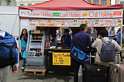 Reindeer and the hotdogs at street food stall,  Bergen, Norway