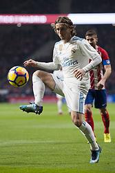 November 18, 2017 - Madrid, Madrid, Spain - Modric during the match between Atletico de Madrid and Real Madrid, week 12 of La Liga at Wanda Metropolitano stadium, Madrid, SPAIN - 18th November of 2017. (Credit Image: © Jose Breton/NurPhoto via ZUMA Press)
