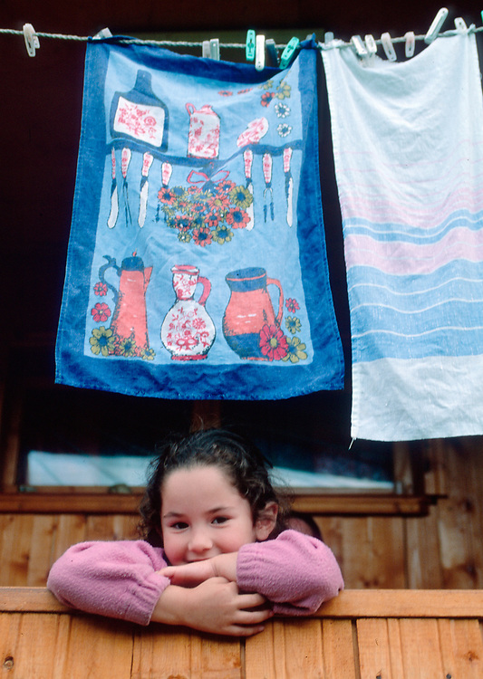 A young girl, Town of Mestia, Svaneti Region, Caucasus Mountains, The Country of Georgia