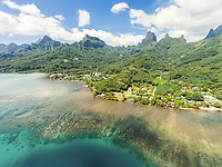 Aerial view of Haapiti, Moorea, Windward Islands, French Polynesia
