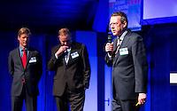 UTRECHT - NVG Congres 2017.  NGF directeur  Jeroen Stevens. links Lodewijk Klootwijk en Frank Kirsten.  FOTO © Koen Suyk