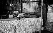 Man sleeping in Trenchtown