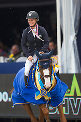 Augustsson Angelica (SWE) - Ard Ginger Pop<br /> Final 5 years<br /> FEI World Breeding Jumping Championships for Young Horses - Lanaken 2014<br /> © Dirk Caremans
