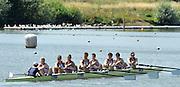 Caversham, Great Britain,  GBR JM8+, Bow. Joel Cooper (Abingdon School)/<br /> Elliott Piercy (St Georges College)/<br /> Harry Lonergan (Shrewsbury School)/<br /> Morgan Bolding (Walton RC)/<br /> Matthew Carter (Abingdon School)/<br /> Oli Knight (St Edwards School)/<br /> Matthew Benstead (Hampton School)/<br /> Titus Morley (St Edwards School)/<br /> Ian Middleton (Abingdon School).<br />  Junior Training Camp,at the Redgrave Pinsent Rowing Lake. GB Rowing Training centre. Thursday  01/08/2013c  [Mandatory Credit. Peter Spurrier/Intersport Images]