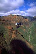 Helicopter, Waimea Canyon, Kauai, Hawaii, USA<br />