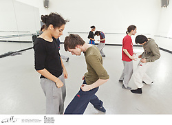 Members of Hofesh Shechter's company rehearse for their performances of Political Mother at the St James Theatre in Wellington, as part of the New Zealand International Arts Festival.