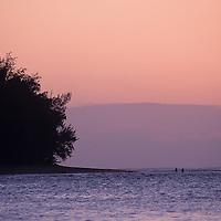Hawaii, Kauai, Haena Beach sunset, north shore