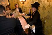 NICOLATTE MONGARDI; DARIA VITALI, Francesca Bortolotto Possati, Alessandro and Olimpia host Carnevale 2009. Venetian Red Passion. Palazzo Mocenigo. Venice. February 14 2009.  *** Local Caption *** -DO NOT ARCHIVE -Copyright Photograph by Dafydd Jones. 248 Clapham Rd. London SW9 0PZ. Tel 0207 820 0771. www.dafjones.com<br /> NICOLATTE MONGARDI; DARIA VITALI, Francesca Bortolotto Possati, Alessandro and Olimpia host Carnevale 2009. Venetian Red Passion. Palazzo Mocenigo. Venice. February 14 2009.