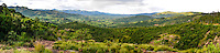 Panorama of landscape close to Matsamo, a South Africa-Swaziland border crossing, with a view into South-Africa. The Kingdom of Swaziland.
