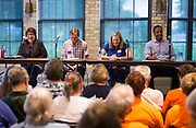 The Final Four Democratic Gubernatorial candidates, Kathleen Vinehout, Mike McCabe, Kelda Roys, and Mahlon Mitchell make their pitch to voters at the Goodman Community Center in Madison, Wisconsin, Sunday, July 15, 2018.
