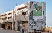 Israel, Old Jaffa Port, the soon to be demolished, old British Mandate Customs House, The ancient port is now used as a fishing harbour and tourist attraction