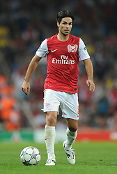 28.09.2011, Emirates Stadium, London, ENG, UEFA CL, Gruppe F, FC Arsenal (ENG) vs Olympiakos Piräus (GRE), im Bild Arsenal's Mikel Arteta in action against Olympiacos // during the UEFA Champions League game, group F, ENG, UEFA CL, FC Arsenal (ENG) vs Olympiakos Piräus (GRE) at Emirates Stadium in London, United Kingdom on 2011/09/28. EXPA Pictures © 2011, PhotoCredit: EXPA/ Propaganda Photo/ Chris Brunskill +++++ ATTENTION - OUT OF ENGLAND/GBR+++++
