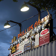 Phillips 66 Sign with Hub Caps