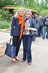 Left to right, AMANDA WAKELEY and her mother LADY JUNE WAKELEY at the 2012 RHS Chelsea Flower Show held at Royal Hospital Chelsea, London on 21st May 2012.
