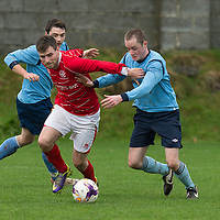 Newmarkets David McCarthy breaks through Avondales defence