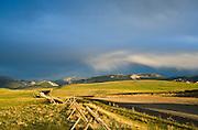Benchmark Road near the Rocky Mountain Front, Montana.