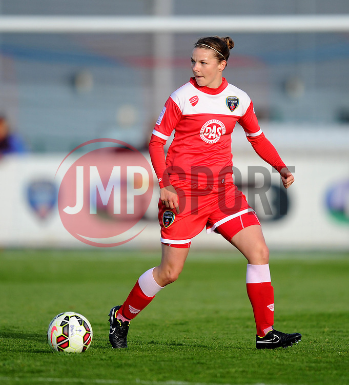 Bristol Academy's Loren Dykes in action during the FA Women's Super League match between Bristol Academy Women and Arsenal Ladies FC at Stoke Gifford Stadium on 9 May 2015 in Bristol, England - Photo mandatory by-line: Paul Knight/JMP - Mobile: 07966 386802 - 09/05/2015 - SPORT - Football - Bristol - Stoke Gifford Stadium - Bristol Academy Women v Arsenal Ladies FC - FA Women's Super League
