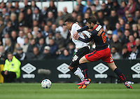 Derby County's Jesse Lingard (L) and Reading's Oliver Norwood in action during todays match  <br /> <br /> Photographer Jack Phillips/CameraSport<br /> <br /> Football - The Football League Sky Bet Championship - Derby County v Reading - Saturday 2nd May 2015 - iPro Stadium - Derby<br /> <br /> © CameraSport - 43 Linden Ave. Countesthorpe. Leicester. England. LE8 5PG - Tel: +44 (0) 116 277 4147 - admin@camerasport.com - www.camerasport.com