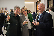 NIKKI BELL; ANNABELLE SELLDORF; BEN LANGLANDS, Editor of Wallpaper: Tony Chambers and architect Annabelle Selldorf host drinks to celebrate the collaboration between the architect and three of Savile Row's finest: Hardy Amies, Spencer hart and Richard James. Hauser and Wirth Gallery. ( Current show Isa Genzken. ) savile Row. London. 9 January 2012.