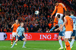 10-10-2019 NED: Netherlands - Northern Ireland, Rotterdam<br /> UEFA Qualifying round Group C match between Netherlands and Northern Ireland at De Kuip in Rotterdam / Shane Ferguson #11 of Northern Ireland, Donyell Malen #20 of the Netherlands