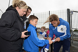 Stuart Sinclair signs autographs for fans at a Bristol Rovers Open Day at the Memorial Stadium - Mandatory by-line: Dougie Allward/JMP - 07966386802 - 26/07/2015 - SPORT - FOOTBALL - Bristol,England - Memorial Stadium - Bristol Rovers Open Day - Bristol Rovers Open Day