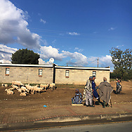 'Africa Drive-by' a photo book published in 2017. <br /> <br /> The images were captured from the back of police motorcades and security vehicles in eight southern African countries in spring and summer, 2017.<br /> <br /> Photo shows: Lesotho.<br /> <br /> It was self-published the same year in an edition of 250.
