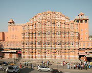 View over the Hawa Mahal, Palace of the Winds.