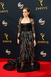 September 18, 2016 - Los Angeles, CA, USA - Carly Chaikin arrives at the 68th Annual Emmy Awards at the Microsoft Theater in Los Angeles, California on Sunday, September 18, 2016. (Credit Image: © Michael Owen Baker/Los Angeles Daily News via ZUMA Wire)