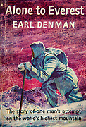 Alone to Everest, Earl Denman, solo attempt to climb Everest from Tibet , book cover.