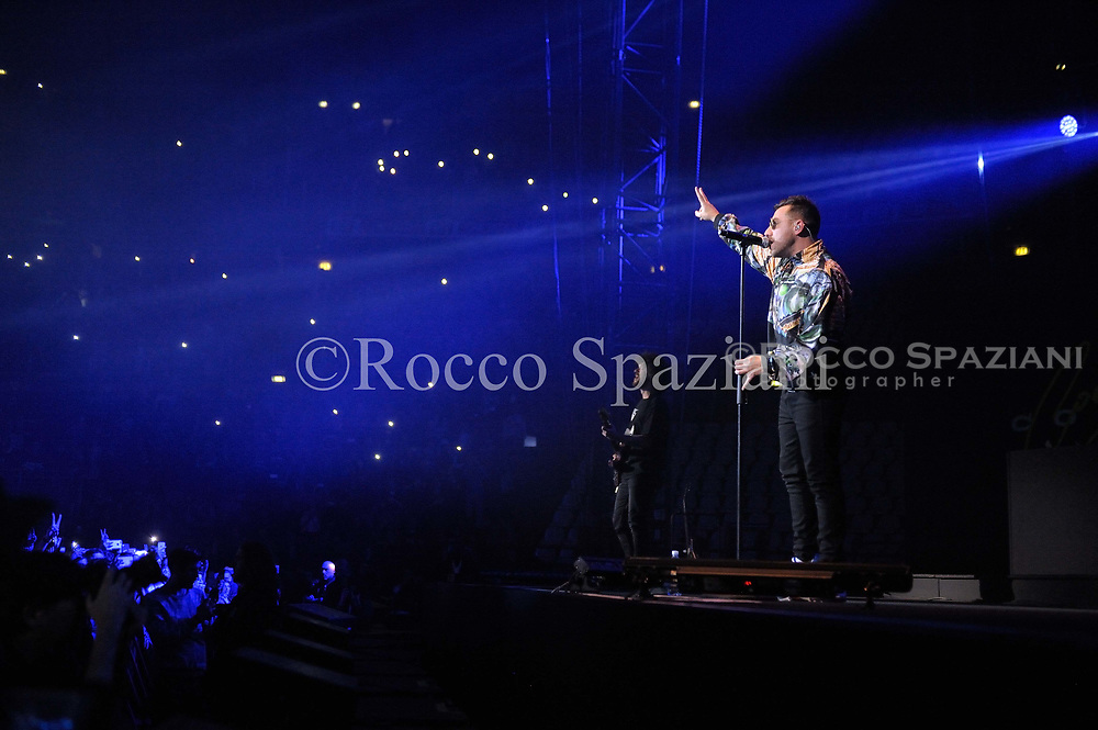 Coez perform on stage on February 3, 2018 in Rome, Italy
