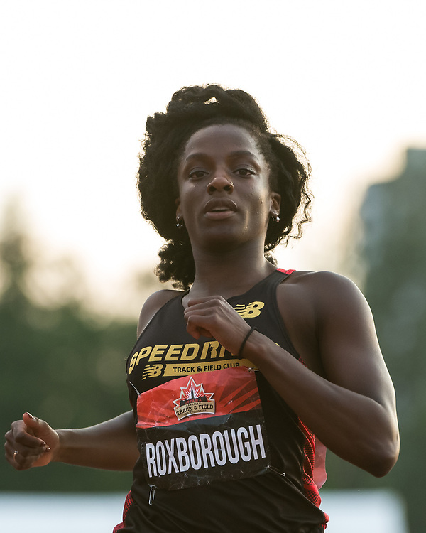 OTTAWA - JULY 07: Shyvonne Roxborough competing in the U20 Women's 100m final during the 2017 Canadian Track and Field Championships at the Terry Fox Athletic Facility in Ottawa, ON., Canada on July 7, 2017.<br /> <br /> Photo: Steve Kingsman for Sports Ottawa/Ottawa Sportspage