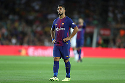 August 7, 2017 - Barcelona, Spain - Luis Suarez of FC Barcelona during the 2017 Joan Gamper Trophy football match between FC Barcelona and Chapecoense on August 7, 2017 at Camp Nou stadium in Barcelona, Spain. (Credit Image: © Manuel Blondeau via ZUMA Wire)