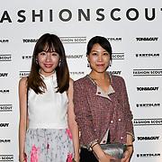 Zoe Zhu, Min Xiao attend Fashion Scout - SS19 - London Fashion Week - Day 2, London, UK. 15 September 2018.