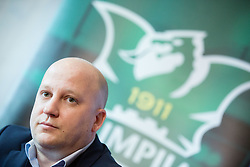 Marko Nikolic, new head coach of NK Olimpija Ljubljana during press conference when presented Olimpija's new coach, on January 11, 2016 in Austria Trend Hotel, Ljubljana, Slovenia. Photo by Vid Ponikvar / Sportida